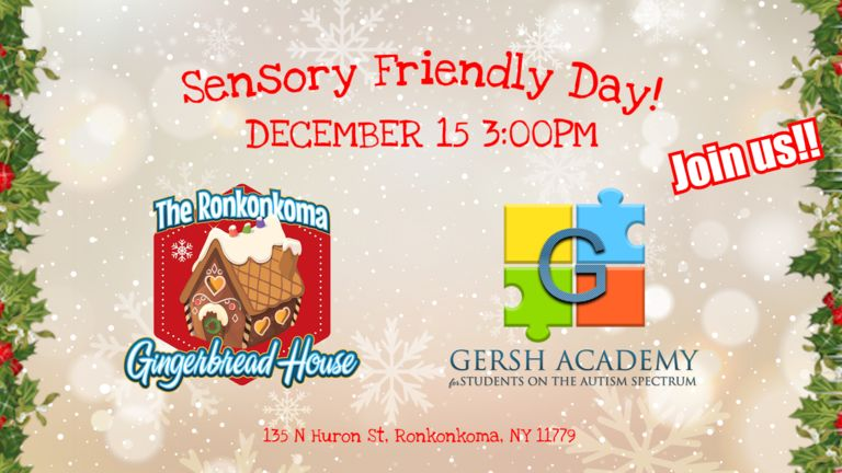 Gingerbread House Sensory Friendly Day Promotion