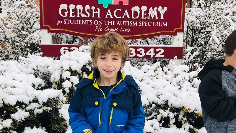 Gersh Academy Student Posing in front of the NY School