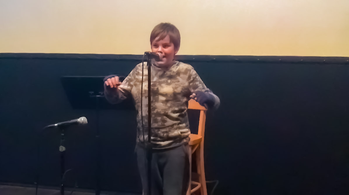 West Hills Academy Student Performing Stand-up Comedy