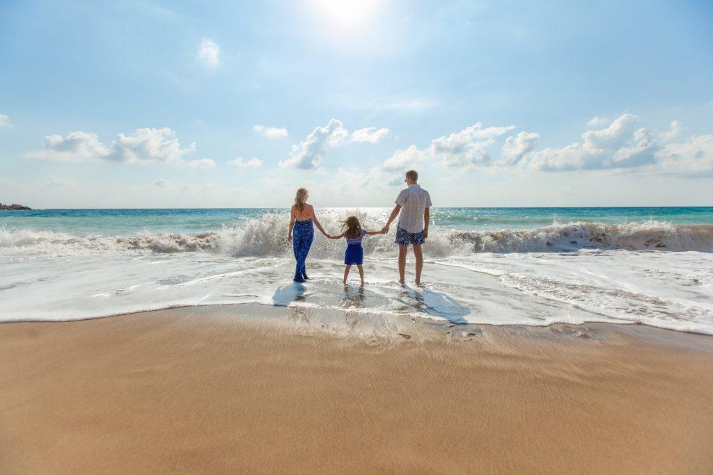 Family Looking Into the Horizon